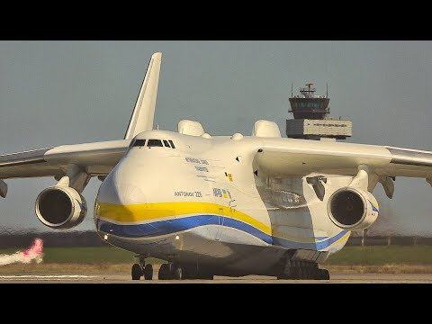 Antonov An-225 Taxiing to Parking Position at Leipzig/Halle Airport (Germany)
