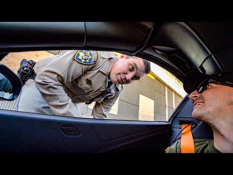 CALIFORNIA STATE POLICE STOP MCLAREN OVER MISSING TRANSPONDER...