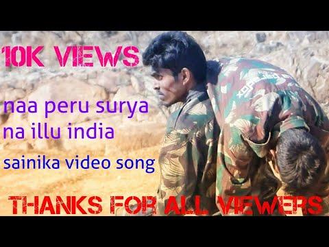 Sainika full video song | na peru surya na...