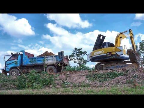 ดูรถดั้มหกล้อ ขนดิน รถแบคโฮ ตักดิน ขุดดิน เพลินๆ Excavator Thailand truck Thailand