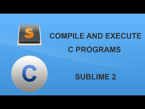 How to use Sublime to compile and execute C programs