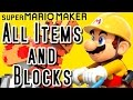 Super Mario Maker ALL ITEMS, BLOCKS & POWERUPS (Wii U)