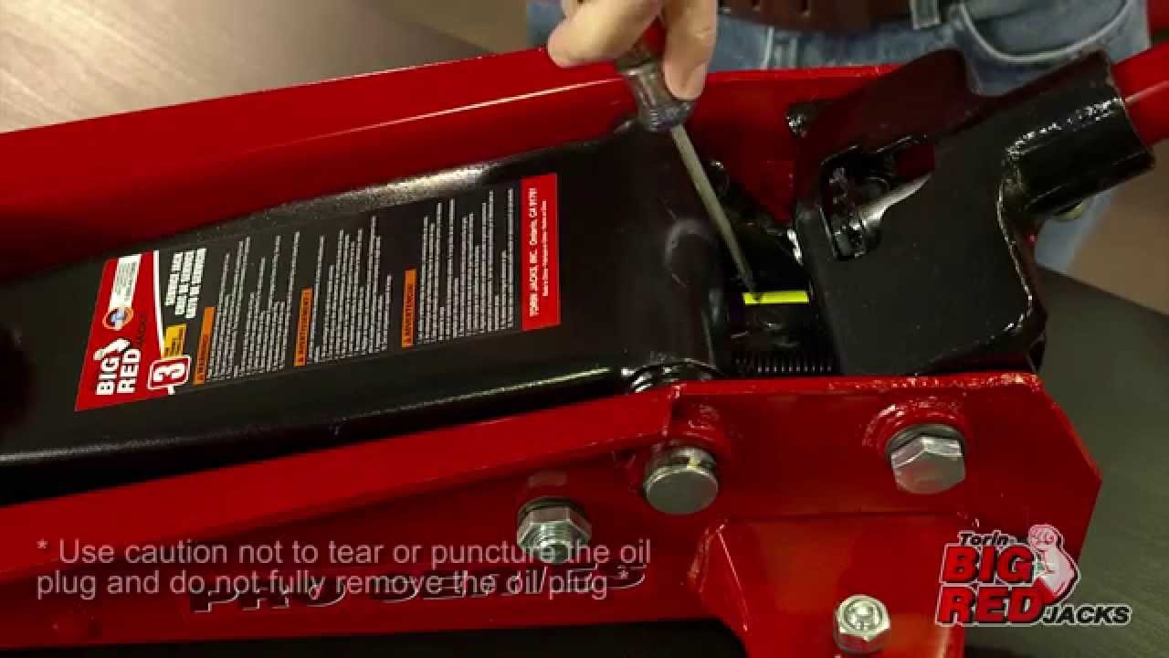 How to Bleed a Jack - Service jack