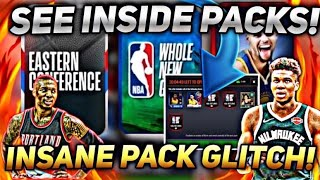THE MOST INSANE PACK GLITCH EVER!!! SEE INSIDE PACKS IN NBA LIVE MOBILE 20!!!