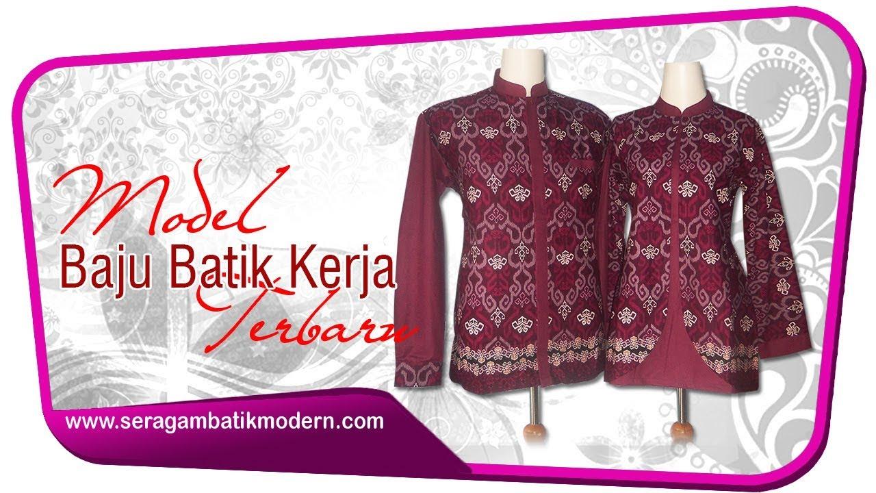 Model Seragam Batik Kantor Terbaru Seragam Batik Kerja Wanita Model Baju Batik Kerja