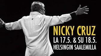 Nicky Cruz Finland Helsinki Saalem 2014: Nickyn puhe