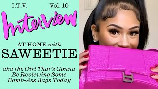 Saweetie Reacts to Some Icy New Handbags
