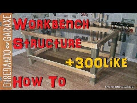 Como hacer una estructura para mesa de taller how to make - Mesa de taller ...