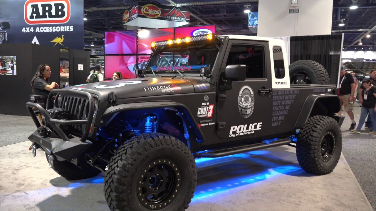 Jeep Jk 8 >> Jeep Jk 8 Police Interceptor Builder Walkaround 2017 Sema Show