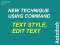 AutoCAD 2007 TUTORIALS -38- Text Style, Multiline Text, and Edit Text