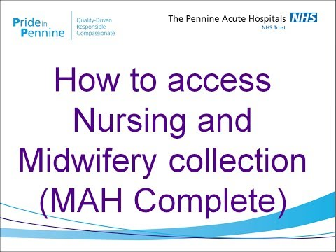 How to access Nursing and Midwifery Collection (MAH Complete)
