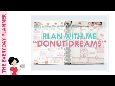 PLAN WITH ME - DONUT DREAMS ~ERIN CONDREN Life Planner Vertical