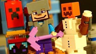 LEGO Minecraft 21131 The Ice Spikes - Лего Майнкрафт Мультики 2017 Ледяные Шипы - ОБЗОР
