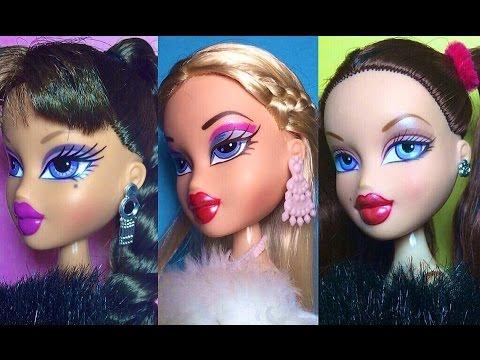 Three Easy Bratz Doll Hairstyles Azdoesmakeup Youtube