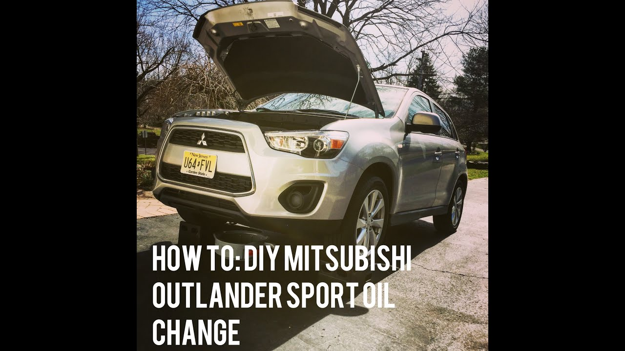 How To Change The Oil On A Mitsubishi Outlander Sport 2015 Youtube 2011 Engine Diagram