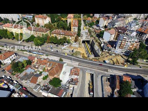 Sofia Metro Line 3, st. 14, depot, TBM  | Метродиаметър 3, ст. 14 и метро депо,  6.8.2017