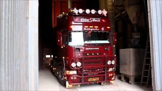 Ebbe S. Beck - Scania 164L 580 V8 with tiptrailer at Åbenrå Port