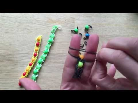 LOOM BANDS! How to Make Pony Bead Rainbow Loom Bracelets with Fingers