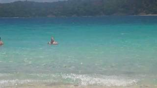John Vernon swimming at Coki beach 2011 honeymoon