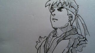 Prismacolor speed draw Ryu Street Fighter Alpha