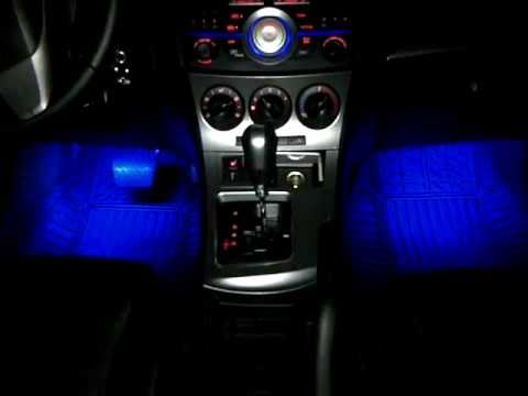 Diy Mazda 3 2010 Footwell Leds Sound Mode Youtube