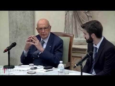 Giorgio Napolitano incontra i giovani Democratici