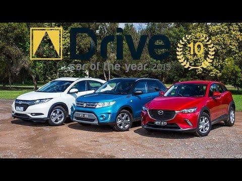 Suzuki Vitara v Mazda CX 3 v Honda HR V 2015 Drive Car of the Year