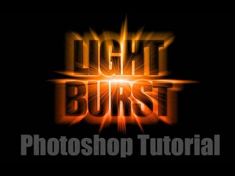 Create Light Burst Text Effect - Photoshop Tutorial For Beginners