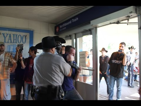 Calgary Transit Peace Officers shocking assault and theft caught on camera.
