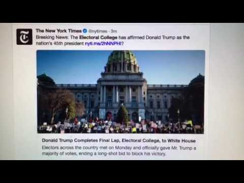 Electoral College Makes Donald Trump Officially President Of The United States
