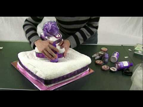 How To Make A Towel Wedding Cake Youtube