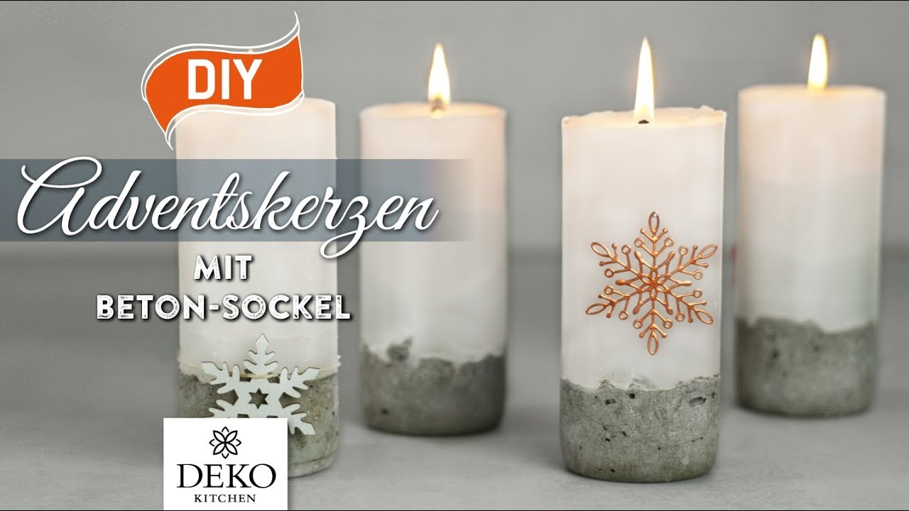 Diy stylische adventskerzen mit betonsockel how to deko kitchen youtube - Youtube deko kitchen ...