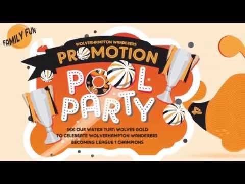 Wolves' promotion Pool Party at Central Baths