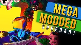 MEGA MODDED SPEED ART! - Minecraft Universe Speedart by Rushlight Invader!
