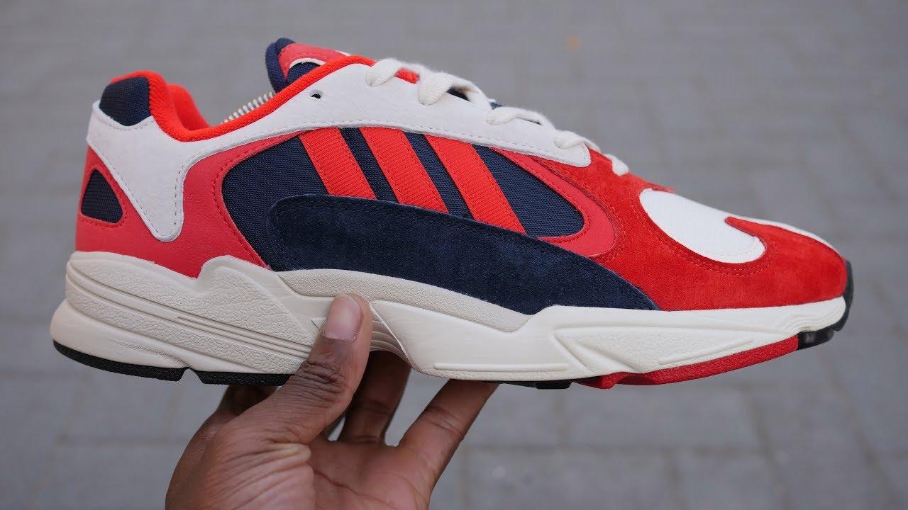 Adidas Yung 1 OG Review & auf den Füßen (weiß, rot + Navy & Orange) YouTube