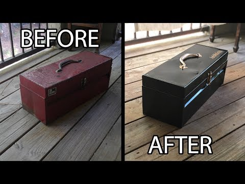 Old Rusty Tool Box Restoration