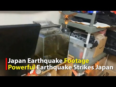 Japan Earthquake Footage: Extreme Moderate 7.2 quake hits near Sendai, Japan  February 13, 2021