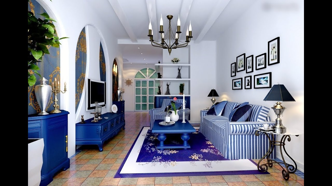 Blue Living Room Furniture Decorating Ideas Green Couch Design Youtube