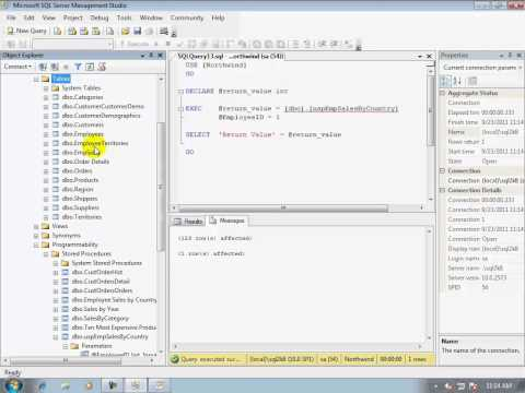 16-How to create/execute/test a stored procedure using Microsoft SQL Server Database