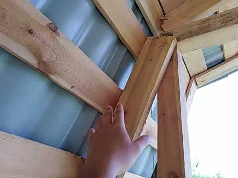 Ломаная крыша стропильная система своими руками