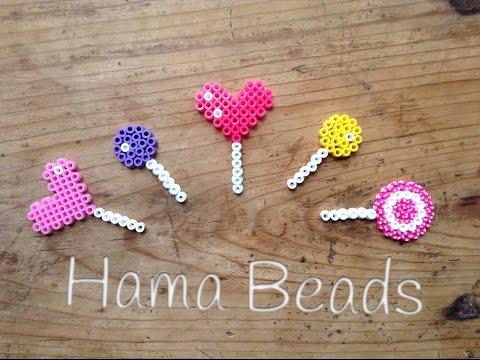 Bonitas piruletas hechas con hama beads, ¡dan ganas de comérselas!