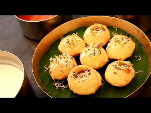 Pani puri with a twist! - Hot cheese fondue batasha