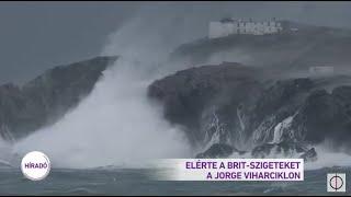 Elérte a Brit-szigeteket a Jorge viharciklon