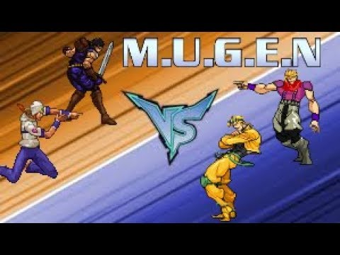 MUGEN - Johnny and Johnny vs. Dio and Dio