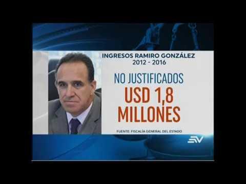 Según Fiscalía Ramiro González no ha justificado 1,8 millones de dólares
