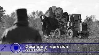 Desalojo en Juárez Celman