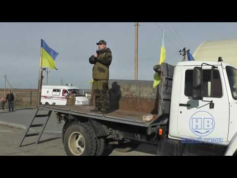 Клоунада на границе РФ: хохлотатарский марш и спивание вмерлой щени, февраль 2017, Чонгар