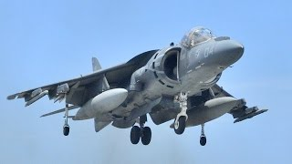 US Military Harrier Jet Aircraft demonstration at air show