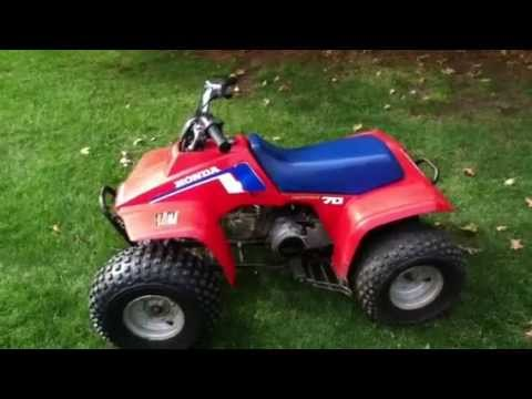 1986 Honda FourTrax Trx 70 Walkaround and Ride - YouTube