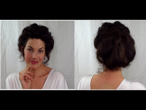 EASY Edwardian Mr Selfridge Kitty Hair Tutorial (gibson Girl ) -- Fitfully Vintage